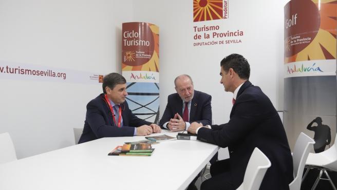 Reunión entre Prodetur y Segittur, con la participación de la Diputación de Sevilla, Fernando Rodríguez Villalobos