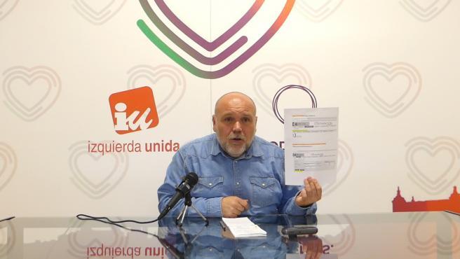 Rueda de prensa del portavoz de Izquierda Unida-Podemos de Toledo, José María Fernández.