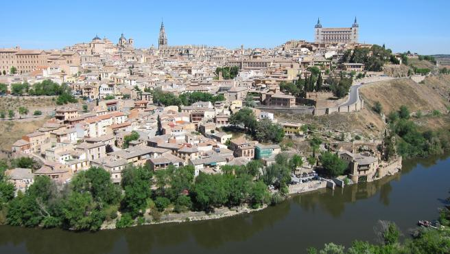 Vistas de Toledo, panorámica Toledo, Casco Histórico, río Tajo