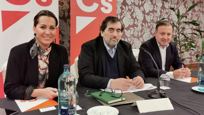 Beatriz Pino, Manuel García Bofill y Joan Mesquida, de Ciudadanos