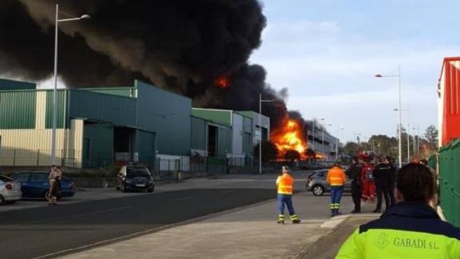 Incendio en una nave de Río do Pozo