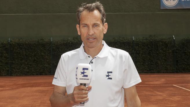Jordi Arrese, comentarista de tenis en Eurosport.