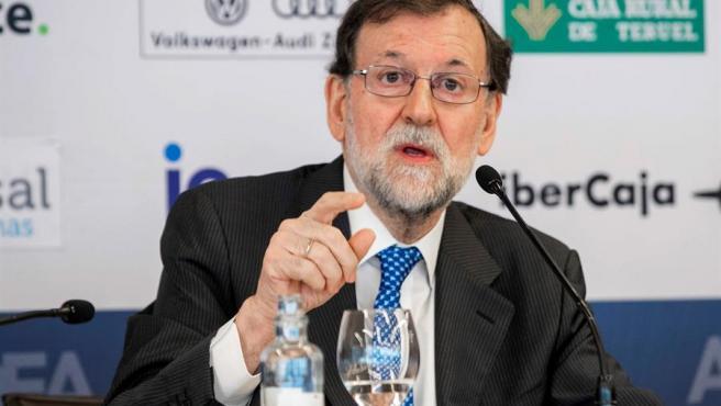 Mariano Rajoy, en la presentación de su libro.