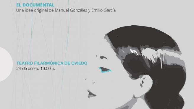 Cartel de presentación del falso documental 'Enigma Agustina' en Oviedo.