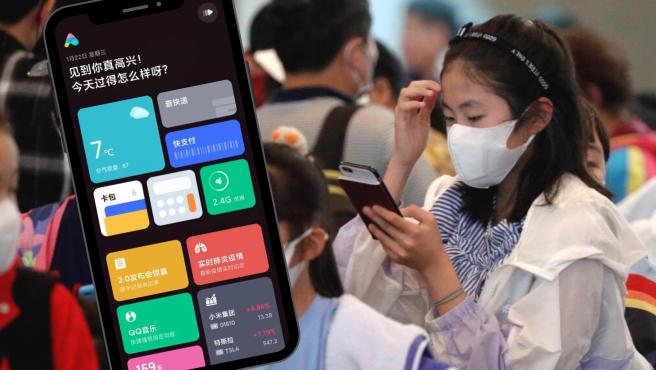 """La tarjeta de """"Epidemia de neumonía en tiempo real"""" de la app de Xiaomi."""