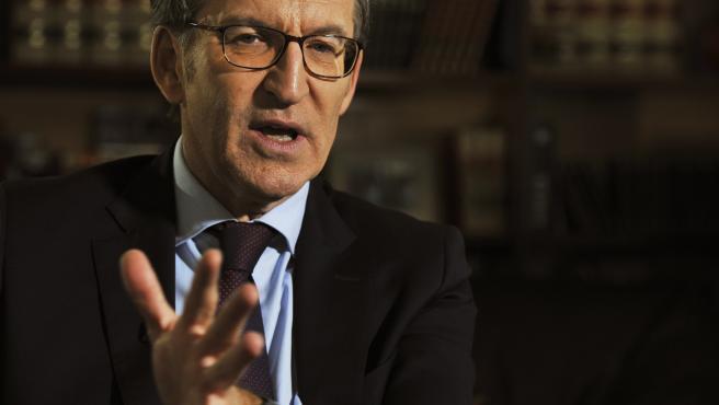 El presidente de la Xunta de Galicia, Alberto Nuñez Feijóo, durante una entrevista para Europa Press en la delegación de la Xunta de Galicia en Ourense (Galicia, España), a 27 de diciembre de 2019.