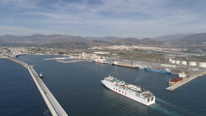 Imagen aérea del puerto de Motril