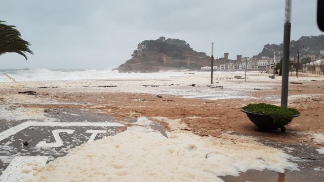 Inundaciones en Tossa de Mar (Girona) por el temporal 'Gloria'