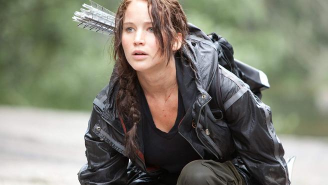 Katniss Everdeen (Jennifer Lawrence), protagonista de las películas de Los juegos del hambre.