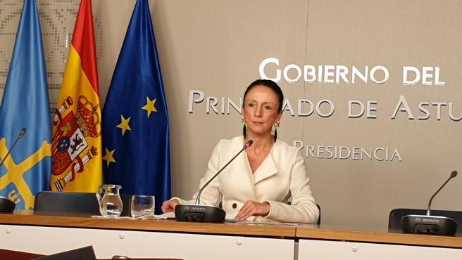 La portavoz del Gobierno del Principado y consejera de Servicios Sociales y Bienestar, Melania Álvarez.