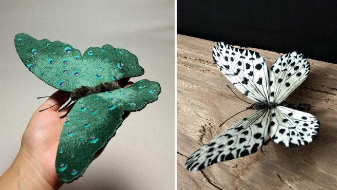 Esculturas de mariposas