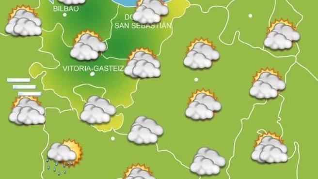 Previsiones meteorológicas para el 24 de enero en Euskadi.