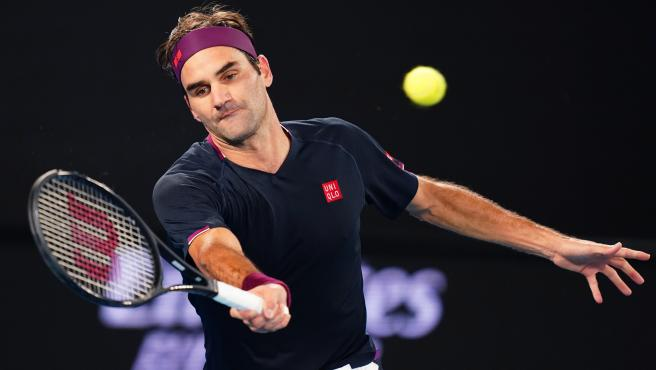 Roger Federer, en el abierto de Australia