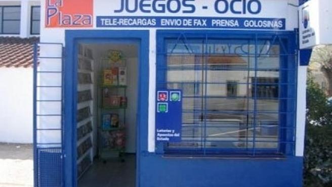 Despacho en el que se ha validado el boleto acertante en Villafranco del Guadiana