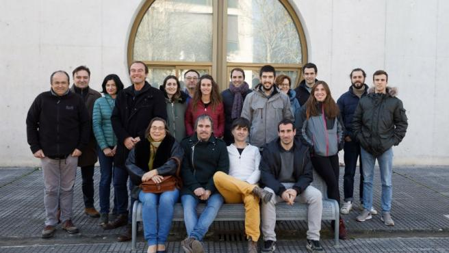 """Foto de grupo del proyecto europeo """"Vites Qualitas"""" en su reunión de lanzamiento, que tuvo lugar los días 14 y 15 de enero en la UPNA"""
