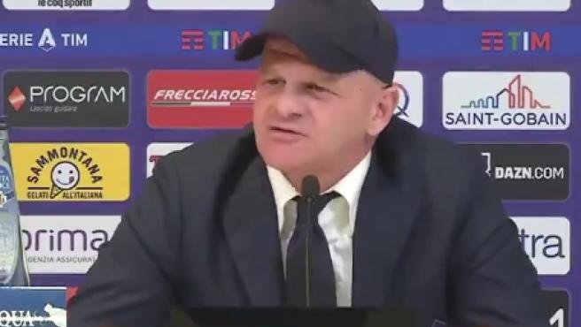 Giuseppe Iachini, en la rueda de prensa.