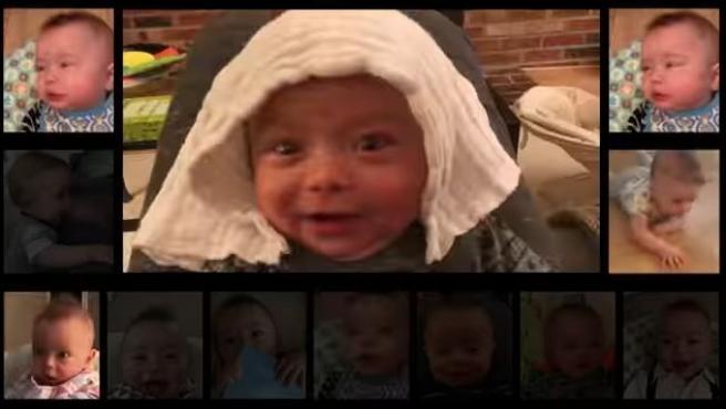 Un padre graba los sonidos de su bebé durante un año y los edita para que suenen como 'Thunderstruck' de AC/DC