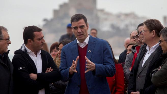 Pedro Sánchez visita las zonas de Castellón afectadas por el temporal.