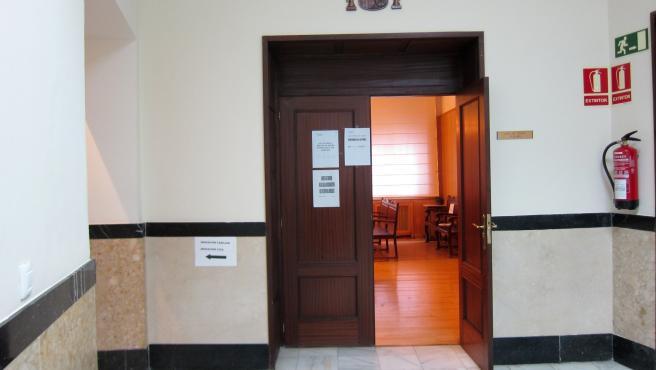 Una sala de vistas de la Audiencia de Valladolid.