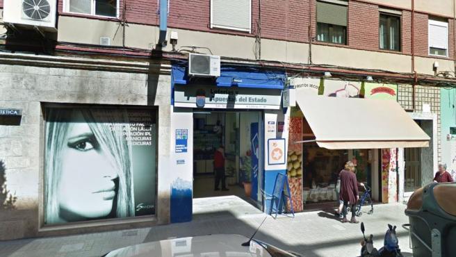 Imagen de la Administración de Loterías de la calle San Vicente de Paúl, en Valencia.