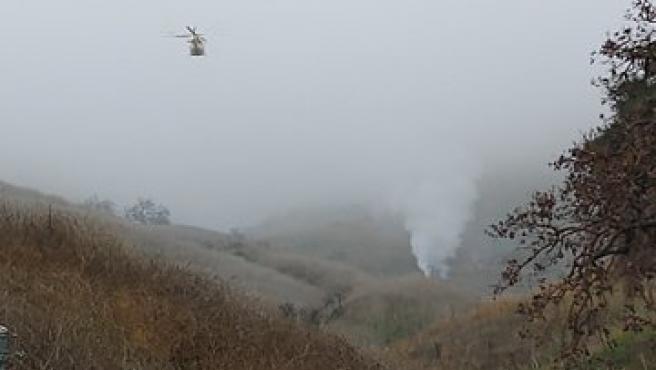 Lugar del accidente del helicóptero de Kobe Bryant