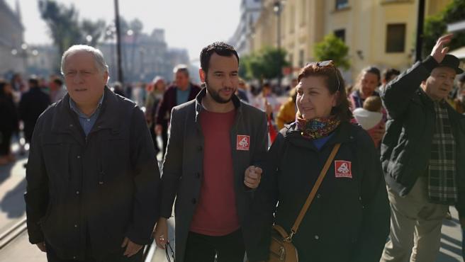 Daniel González Rojas en la manifestación de este domingo de la marea blanca