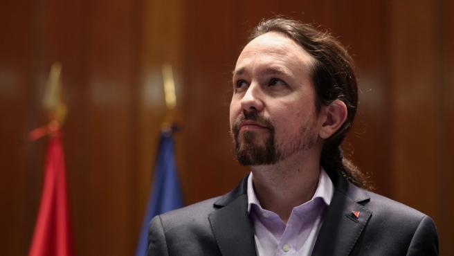 El vicepresidente de Derechos Sociales y Agenda 2030 para el Gobierno de coalición de PSOE y Unidas Podemos en la XIV Legislatura, Pablo Iglesias.