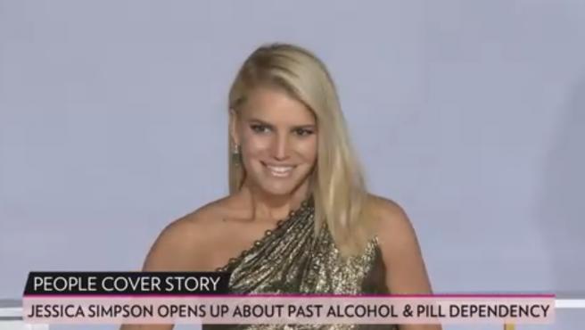 Jessica Simpson, en una captura de vídeo de un reportaje de la revista People acerca de sus problemas de adicción