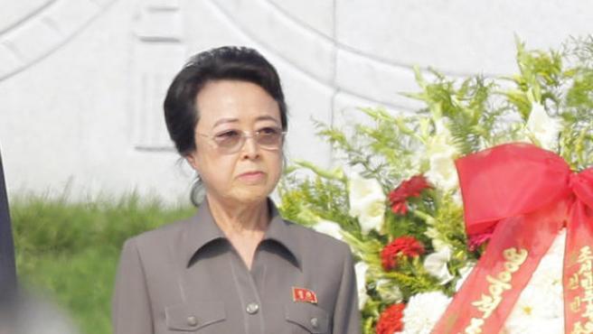 Kim Kyong-hui, tía del dictador norcoreano Kim Jong-un.