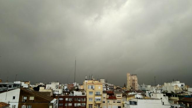 Cielo nublado en Valencia.