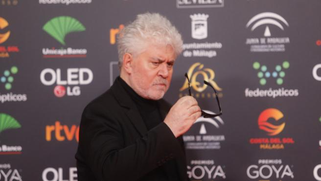 Mejor dirección es para Pedro Almodóvar por Dolor y gloria en la XXXIV edición de los Premios Goya, en Málaga (Andalucía, España), a 25 de enero de 2020.