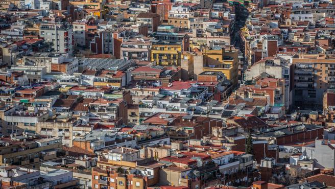 Vista de edificios de Barcelona