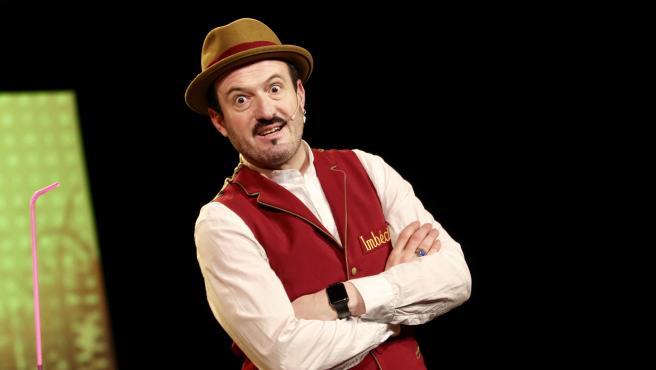 Alex O'Dogherty en la presentación de su espectáculo Imbécil.