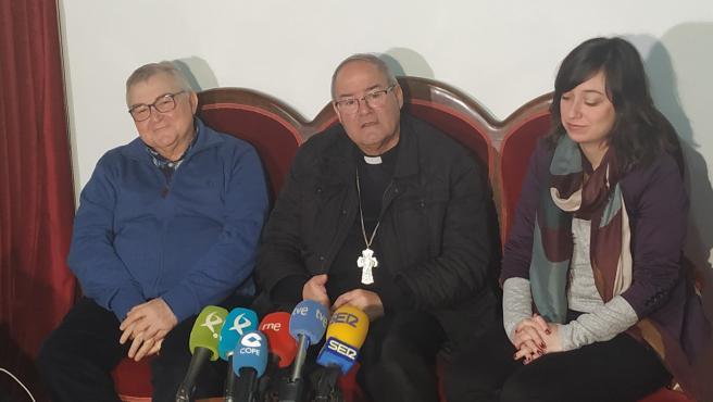 Francisco Cerro, en la rueda de prensa de despedida antes de ser nombrado arzobispo de Toledo