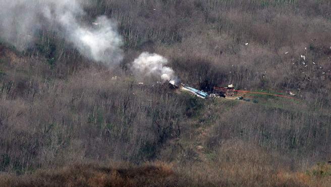 Lugar del accidente de helicóptero en el que ha muerto Kobe Bryant