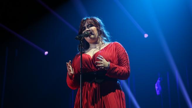 Ariadna canta en la segunda gala de 'Operación Triunfo 2020'.