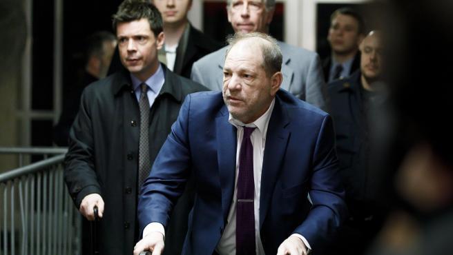 Harvey Weinstein durante su juicio por abuso sexual.
