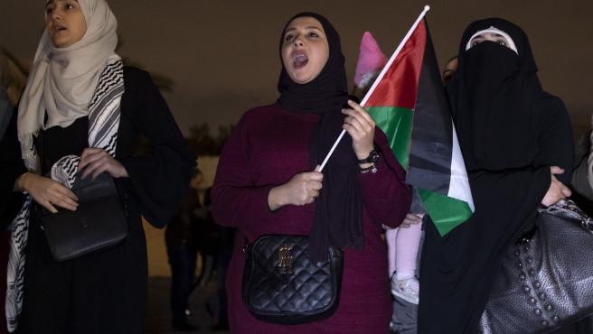 Mujeres jordanas durante una protesta contra el llamado 'Acuerdo del siglo'.