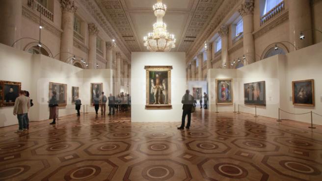 Exhibición de obras del Museo del Prado en el Museo del Hermitage de San Petesburgo.
