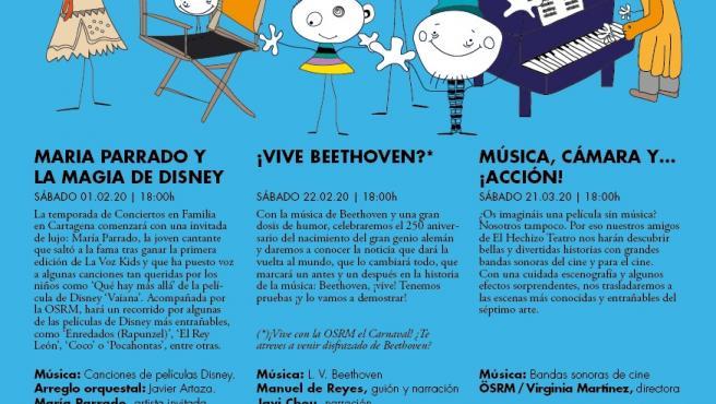 Nota/ Música De Disney, Beethoven Y Bandas Sonoras De Ci Ne, En Los Conciertos En Familia De La Sinfónica Regiona L En Cartagena