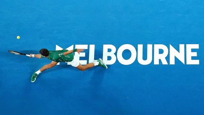 Novak Djokovic, durante el Open de Australia.