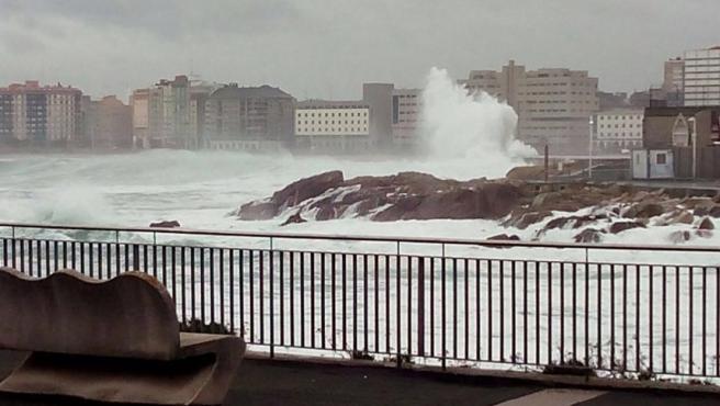 Oleaje en A Coruña