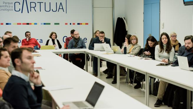 Participantes en unas jornadas sobre la FP Dual en el PCT Cartuja de Sevilla