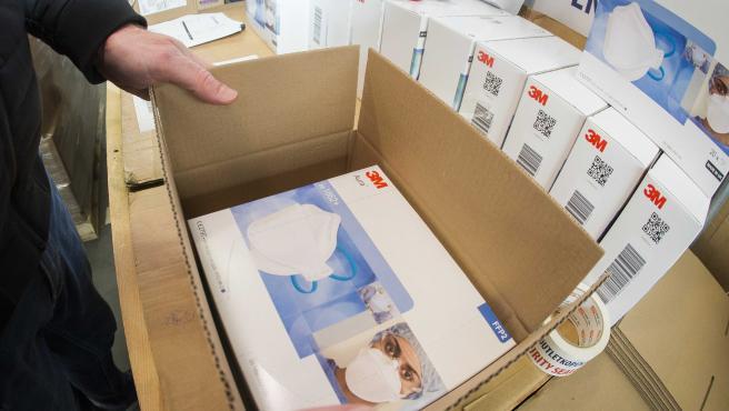 Pedido de mascarillas de la marca 3M, principal fabricante de este producto en España.
