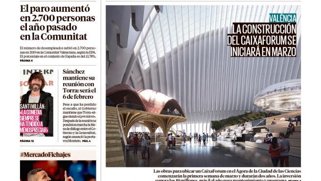 Portada Madrid 29 de enero de 2020