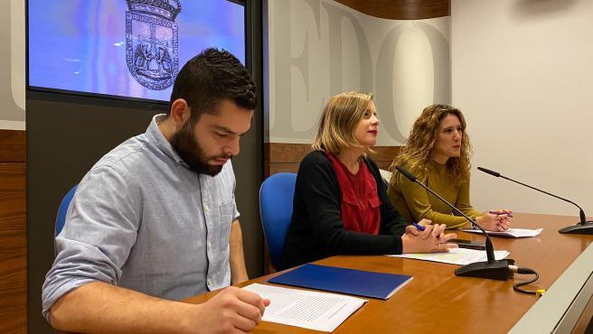 Rubén Rosón, Ana Taboada y Anabel Santiago.
