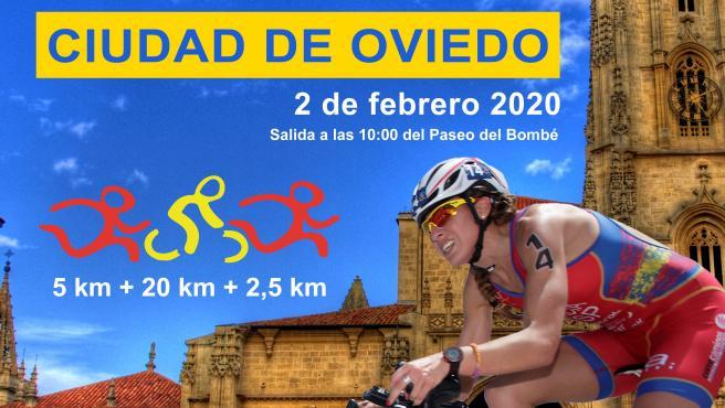 Cartel IV Duatlón 'Ciudad de Oviedo'.