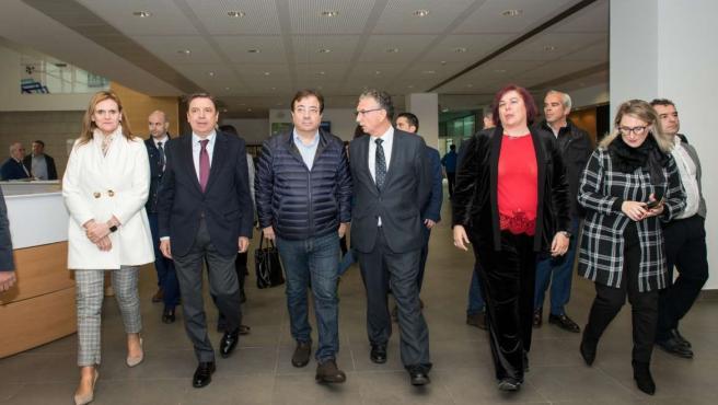 El ministro de AGricultura, Luis Planas, y el presidente de la Junta en Agroexpo