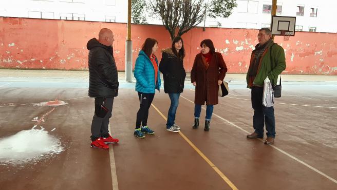 Visita de Podemos-Equo Xixón al colegio Laviada