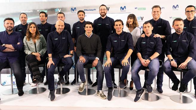 Equipo de Movistar+ F1 en la temporada 2019.